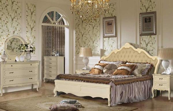 мебель для спальни в классическом стиле фото гарнитур белый шкафы