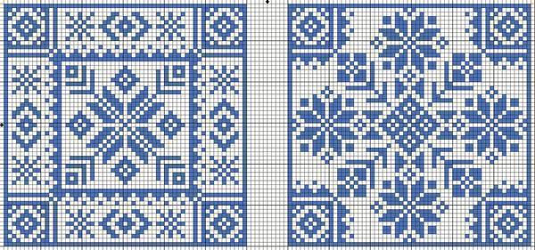 Большинство схем для вышивки орнамента содержат геометрические фигуры, поэтому при вышивании необходимо применять линейку