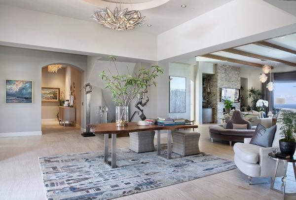 Правильно оформленная комната цветами может стать любимым место для всей семьи