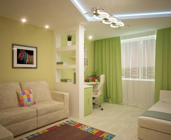 В зале-спальне должно быть выделено место <u>какой</u> для отдыха и приема гостей