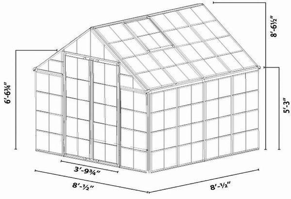 Размеры теплицы под поликарбонат
