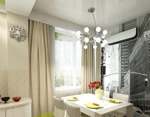 Люстра с подвижными спотами прекрасно впишется в интерьер комнаты с низким потолком