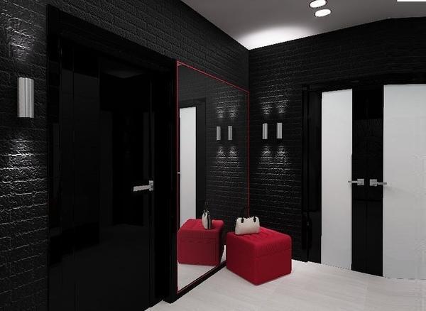 Черная классическая версия обоев идеальна для оформления стен в стиле лофт