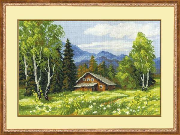 Зачастую пейзажи вышивают уже опытные рукодельницы