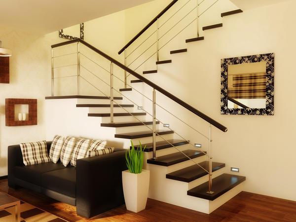 Самый простой вариант для дома - маршевая лестница, изготовленная своими руками