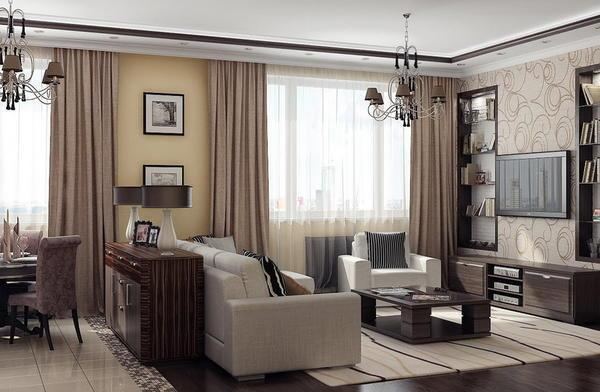 Современные направления в дизайне интерьера зала характеризуются функциональностью и привлекательным внешним видом