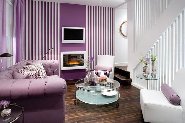 Как правило, в сиреневом цвете оформляются нестандартные и креативные гостевые комнаты