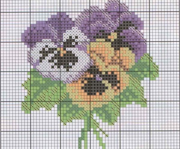 Отличным вариантом для начинающих является несложная схема, предусматривающая использование 2-3 цветов