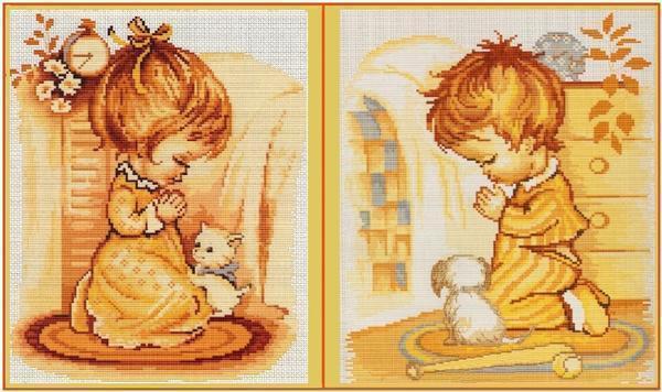 Детей легко научить вышивать, главное, чтобы они проявляли интерес