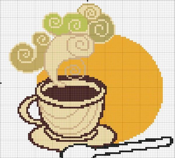 """Рисунок """"Чаепитие"""" прекрасно впишется в кухонную обстановку"""