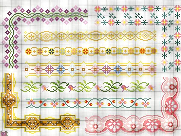 Вышивка с цветочным орнаментом, вставленная в красивую рамку, отлично впишется в интерьер природной тематики