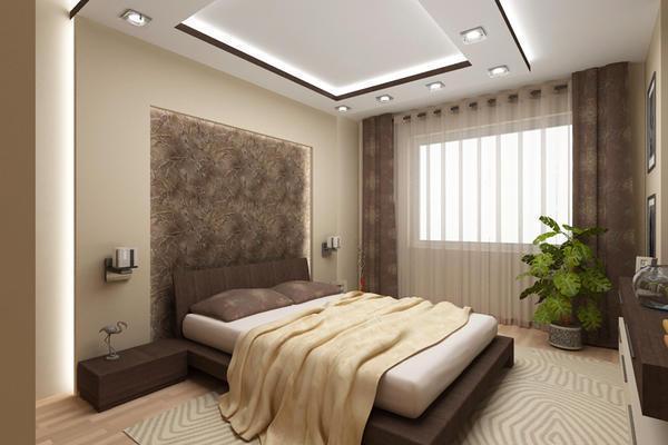 Если есть возможность, то придерживайтесь принципа: чем меньше мебели в спальне, тем лучше