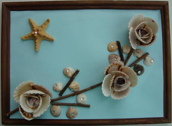 Картину-панно из ракушек очень легко сделать своими руками даже новичку, главное - подготовить необходимый материал и запастись терпением