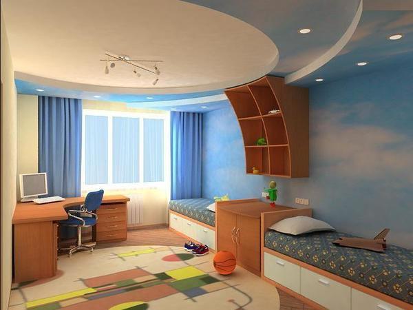 Для детской спальни можно подбирать, как яркие цвета, так и пастельных оттенков