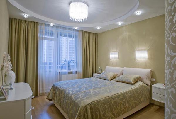 Освещение в спальне должно быть регулируемым, а модной тенденцией на сегодняшний день является напольная подсветка