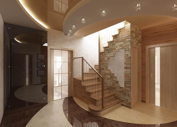 Одномаршевая лестница - один из самых простых вариантов лестничных конструкций