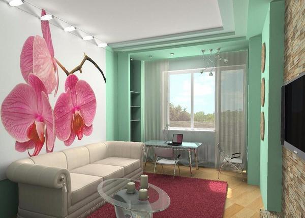 Если предполагается в одной комнате обустроить как гостиную, так и спальню, тогда лучше всего подбирать функциональный раскладной диван