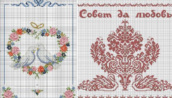 Широкий выбор схем для свадебной вышивки крестом представляет собой источник вдохновения, как для начинающих, так и для более опытных вышивальщиц