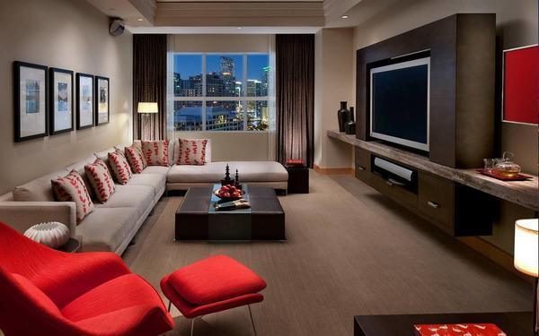 Дизайн для гостиной следует выбирать исходя из личных предпочтений и располагаемого бюджета