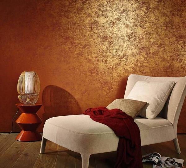 Обои в стиле венецианской штукатурки - отличный вариант для тех, кто стремится роскошно оформить интерьер квартиры без существенных затрат