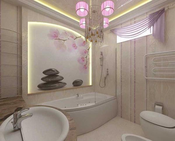 Обои с орхидеями помогут сделать в ванной комнате особую обстановку, которая поможет расслабиться и отдохнуть
