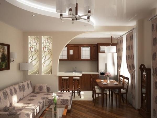 Совмещение комнат в хрущевке расширит кухню и сделает ее более удобной для использования