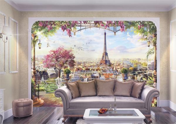 Дизайнерские обои принято использовать для создания наиболее богатых и роскошных интерьеров