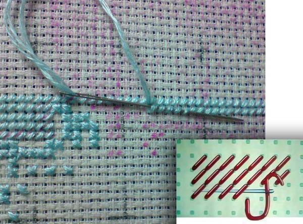 Правильно закрепленная нить <strong>вышивка крестом как закончить вышивку</strong> - залог успеха при создании вышитой картины