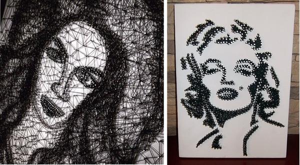 Разнообразить досуг можно, освоив занимательный процесс изготовления портретов из черных ниток. Созданные руками уникальные творения помогут погрузить дом в атмосферу праздника