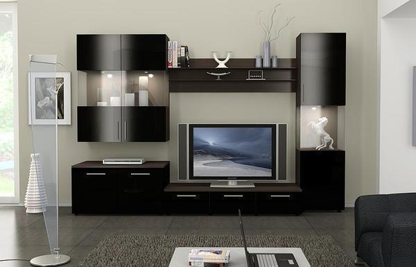 Мебель для зала следует выбирать в одном стиле и цветовой гамме