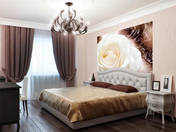 Романтическим персонам будет по душе комната, интерьер которой оформлен в теплых тонах