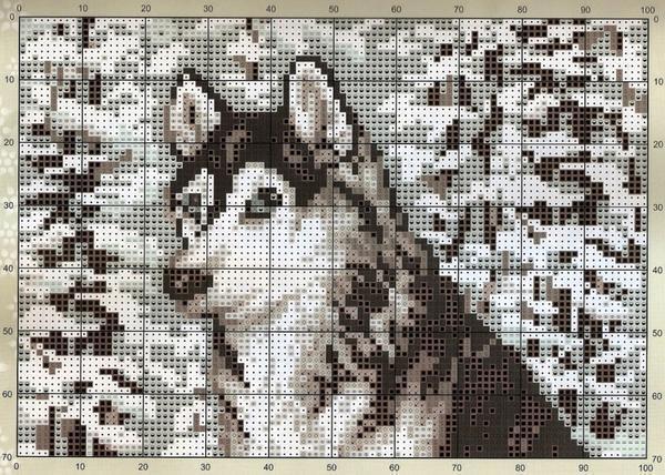 Вышитый волк станет хорошим подарком для любимого мужчины
