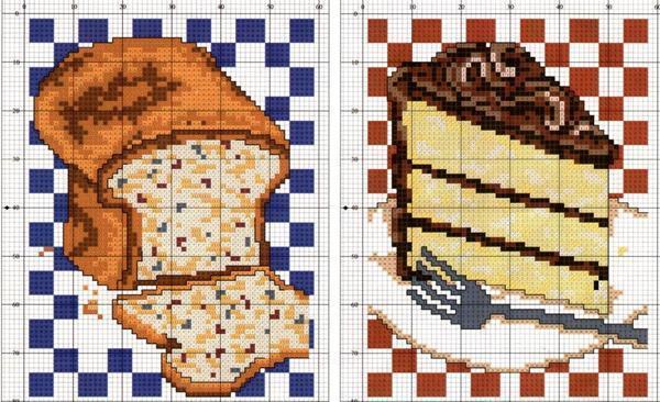 Схемы для вышивки крестом для кухни: бесплатные натюрморты, скачать тематику кофе, готовые схемы гжель, Риолис