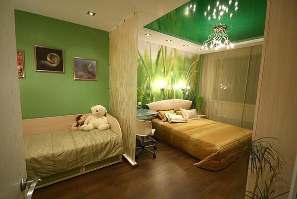 В одном зале можно совместить сразу две спальни