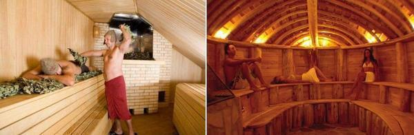 Не стоит делать слишком высокий потолок в бане. Как правило, его высота колеблется в среднем 2,3 - 2,7 м