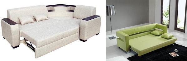 Чтобы сэкономить место, можно выбрать раскладной диван, который станет практичным и функциональным элементом в гостиной