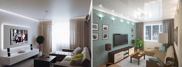 Большинство дизайнеров советуют пространство гостиной использовать функционально и правильно, не стоит ставить в эту комнату лишние предметы