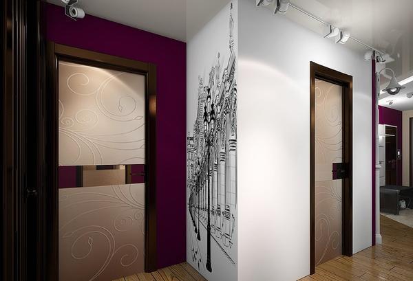 Сделать прихожую стильной и оригинальной можно с помощью фотопечати, размещенной на одной из стен