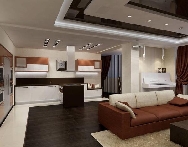 Когда комнаты смежные, то с кухни может проникать запах в гостинную