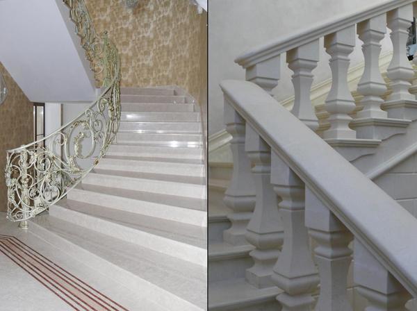 Преимущество каменной лестницы заключается в том, что она прочная и весьма надежная
