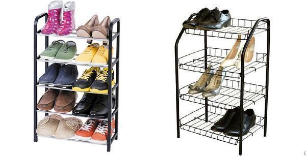 Этажерка – отличное решение для хранения обуви в прихожей