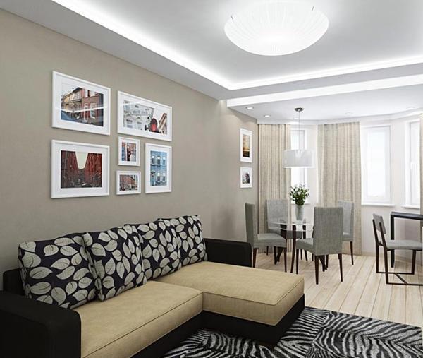 Соединенные спальня и гостиная помогут вам сделать оригинальную перепланировку в квартире