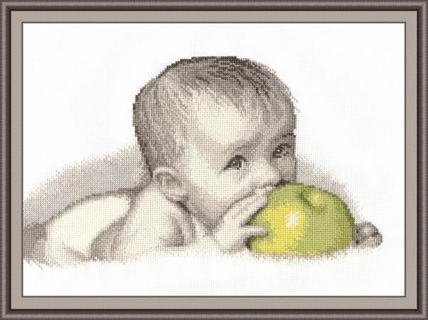 Картина, где изображают детей лучше всего будет смотреться на канве светлых тонов