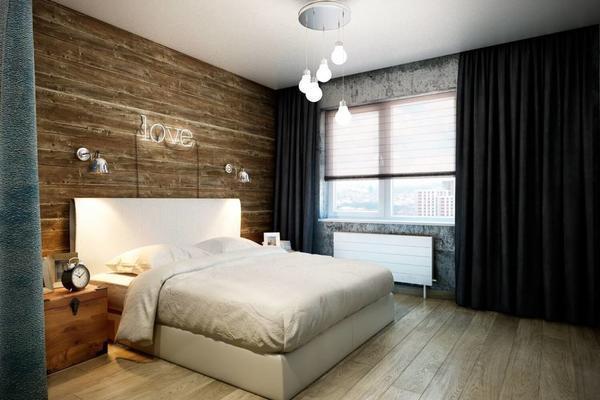 Декор спальни в стиле лофт должен быть минимальным и нестандартным