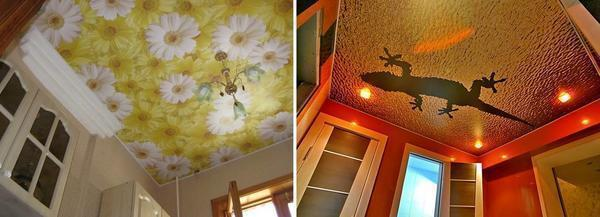 На сегодняшний день существует огромный выбор различных рисунков для натяжного потолка, поэтому выбрать то, что вам понравится не составит особого труда