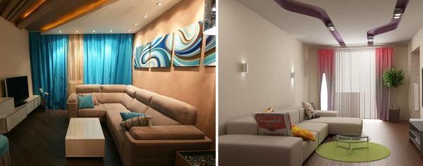 Как правило, мебель в гостиной расставляют вдоль стены, чтобы оставить пространство в середине комнаты