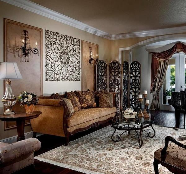 Правильное декорирование стен — главная задача для создания гармоничного интерьера гостиной