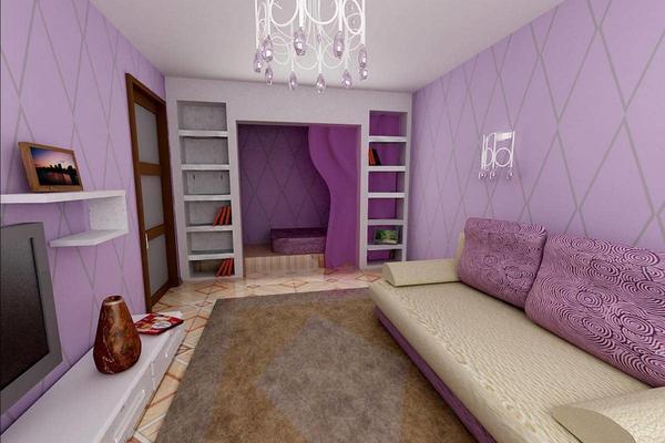 Интерьер зала маленького