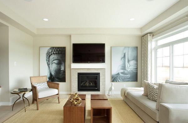 Для гостиной небольшого размера прекрасно подойдет стиль минимализм с минимальным количеством мебельного гарнитура