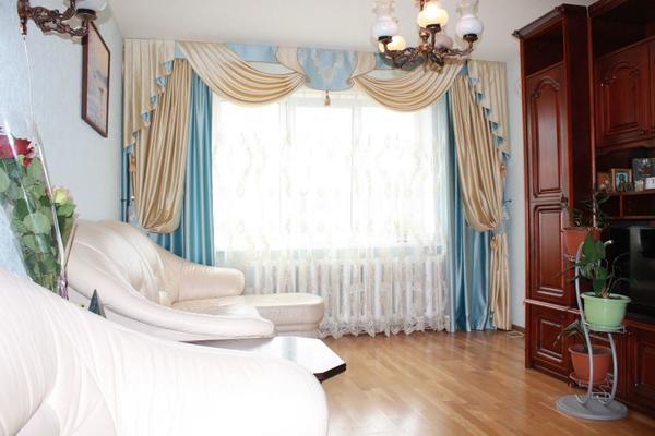 Двойные шторы: в гостиную фото, как сшить двухсторонние, комбинированные из разных тканей, венге в интерьере
